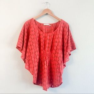 ANTHRO Addison Story Lunar Cycles Top Red